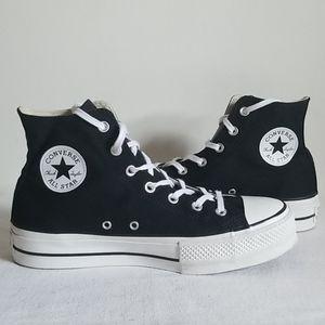 Converse Black Hi Top Platform Sneaker